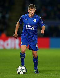 Marc Albrighton of Leicester City  - Mandatory by-line: Matt McNulty/JMP - 22/11/2016 - FOOTBALL - King Power Stadium - Leicester, England - Leicester City v Club Brugge - UEFA Champions League