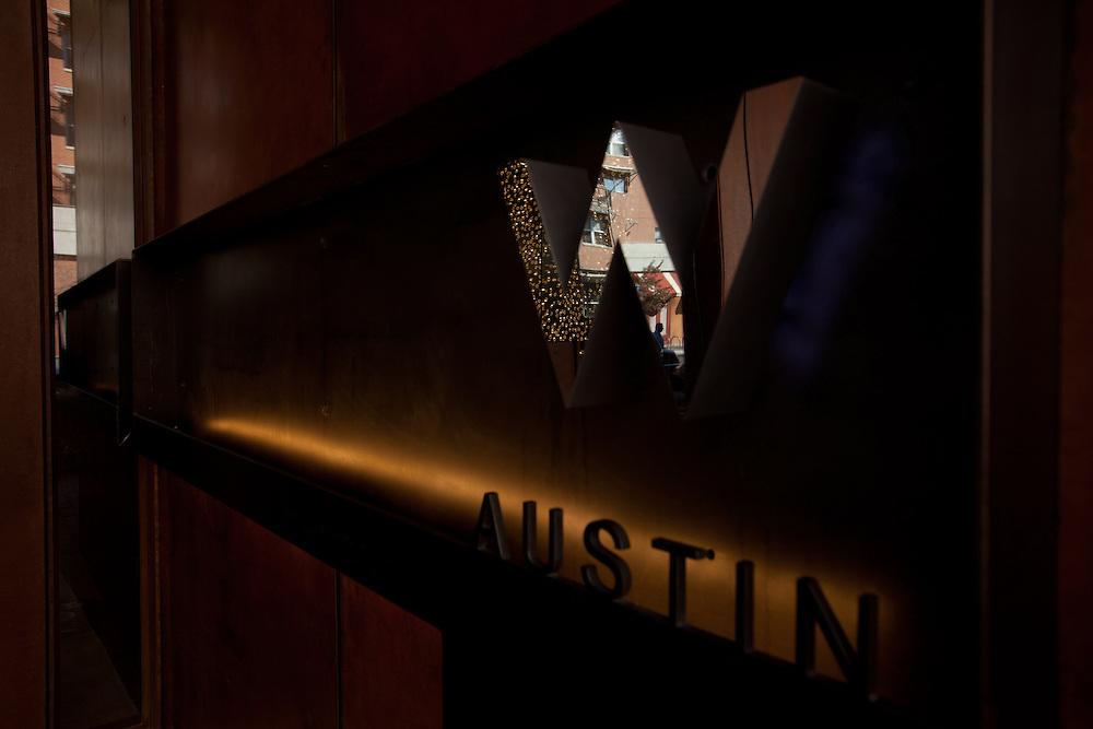 AUSTIN, TX - March 2: Exterior detail, W Hotel Austin. Photograph © 2011 Darren Carroll