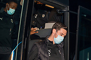AFC Wimbledon player Will Nightingale arrivals before the EFL Sky Bet League 1 match between Gillingham and AFC Wimbledon at the MEMS Priestfield Stadium, Gillingham, England on 24 November 2020.