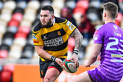 Newport's Will Evans in action - Mandatory by-line: Craig Thomas/Replay images - 04/02/2018 - RUGBY - Rodney Parade - Newport, Wales - Newport v Ebbw Vale - Principality Premiership
