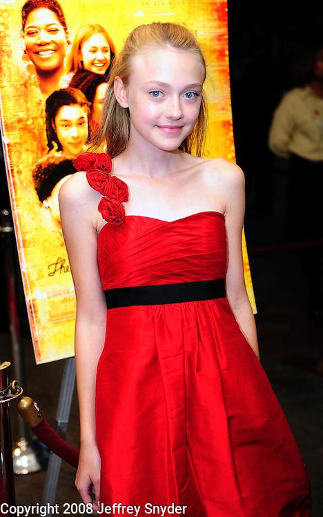 "Dakota Faning attends screening of ""The Secret Life of Bees"""