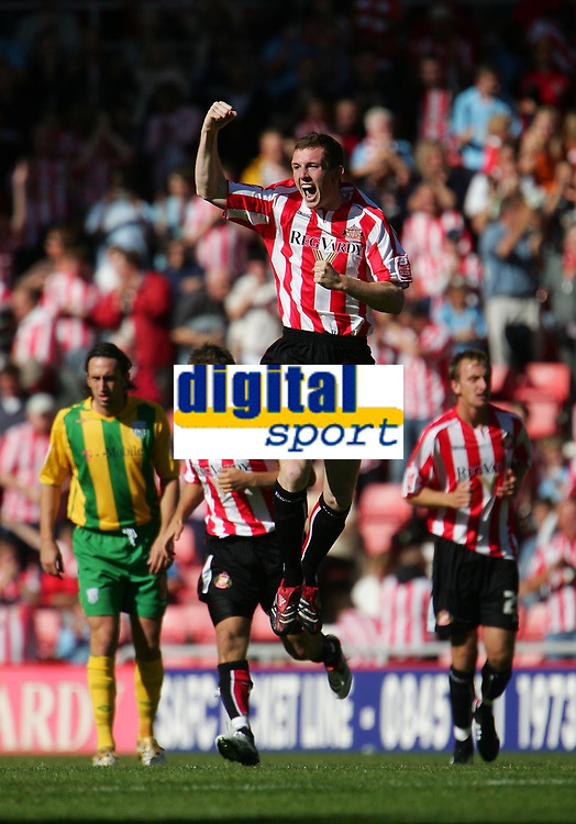 Photo: Andrew Unwin.<br /> Sunderland v West Bromwich Albion. Coca Cola Championship. 28/08/2006.<br /> Sunderland's Neill Collins celebrates scoring his team's second goal.