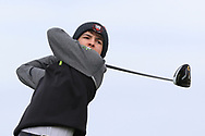 Charlie Flavin (Youghal) on the 1st tee during Round 2 of the Connacht U16 Boys Amateur Open Championship at Galway Bay Golf Club, Oranmore, Galway on Wednesday 17th April 2019.<br /> Picture:  Thos Caffrey / www.golffile.ie