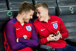 Eric Dier and Jordan Pickford during pitch check of Team England 1 day before football match between National teams of Slovenia and England in Round #3 of FIFA World Cup Russia 2018 qualifications in Group F, on October 10, 2016 in SRC Stozice, Ljubljana, Slovenia. Photo by Vid Ponikvar / Sportida
