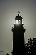 Silhouette of the Lighthouse in town of Alexandroupoli, East Macedonia and Thrace, Greece