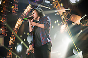 One Direction performing at the iHeartRadio Music Festival in Las Vegas, Nevada on Sepembter 20, 2014.