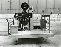 1935 Portable editing machine at Columbia Studios
