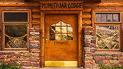 The Num-Ti-Jah Lodge at Bow Lake, Banff National Park, Alberta, Canada