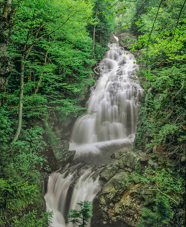 Crystal Cascades in springtime, White Mtn National Forest, Pinkhams Grant, NH