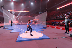 February 7, 2018 - Paris, Ile-de-France, France - Kevin Mayer of France competes in shot put triathlon during the Athletics Indoor Meeting of Paris 2018, at AccorHotels Arena (Bercy) in Paris, France on February 7, 2018. (Credit Image: © Michel Stoupak/NurPhoto via ZUMA Press)