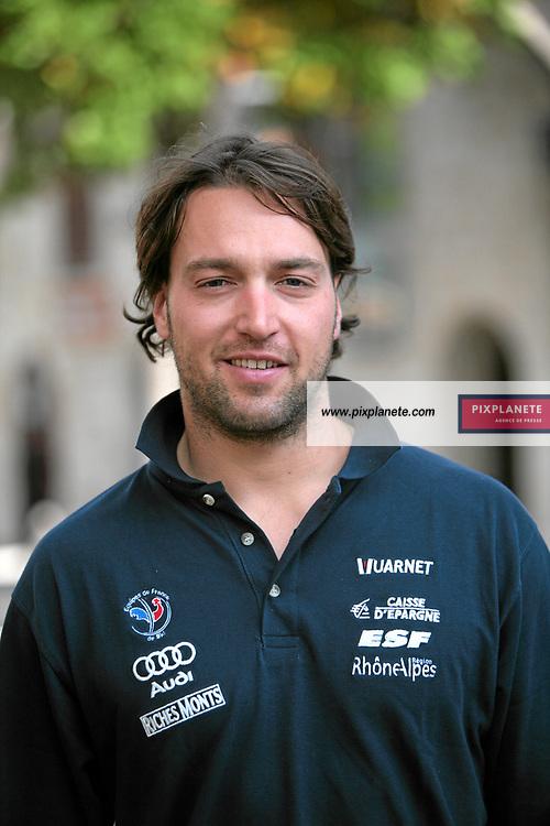Pierre Emmanuel Dalcin - Ski Alpin - présentation de l'équipe de France de ski 2007-2008 - Photos exclusives - 9/10/2007 - JSB / PixPlanete