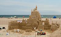 Sand Castle competition at Hampton Beach June 22, 2011.