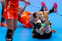 Kim Naidzinavicius of Germany in action during the Women's EHF Euro 2020 match between Netherlands and Germany at Sydbank Arena on december 14, 2020 in Kolding, Denmark (Photo by RHF Agency/Ronald Hoogendoorn)