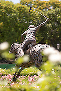 Statue of Polo player, The Campo Argentina Del Polo, Buenos Aires, Argentina, South America