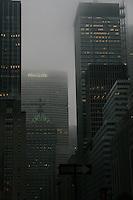 View down Park Avenue towards the Metlife building Manhattan New York