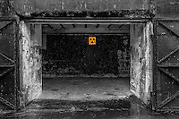 A remnant of the cold war -- the fallout shelter in an abandoned bunker at Fort Casey State Park on Whidbey Island, Washington