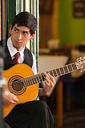 Man playing guitar, La Boca, Buenos Aires, Argentina, South America