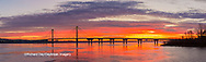 63895-15519 Clark Bridge at sunrise Alton IL