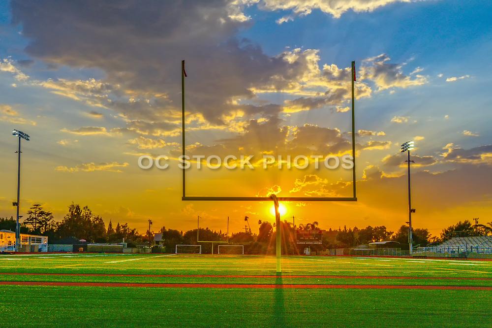 Sunset Over Michael A Monsoor Memorial Stadium at Garden Grove High School