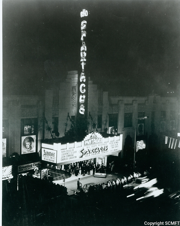 """1960 Premiere of """"Spartacus"""" at the Pantages Theater"""