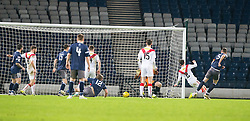 Queen's Park Ryan McGeever (5) scoring their second goal. Queen's Park 2 v 1 Airdrie, Scottish Football League Division One game played 7/1/2017 at Hampden.