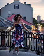 Choreographer Maya Taylor in the French Quarter of New Orleans on Monday, June 19, 2017. (Photo by Chris Granger, NOLA.com | The Times-Picayune)