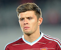 West Ham's Aaron Cresswell against the Phoenix in the second match of the Football United Tour at Eden Park, Auckland, New Zealand, Wednesday, July 23, 2014.  Credit:SNPA / Ross Setford