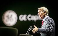 U.S. Senator Rob Portman addresses the GE Capital summit.