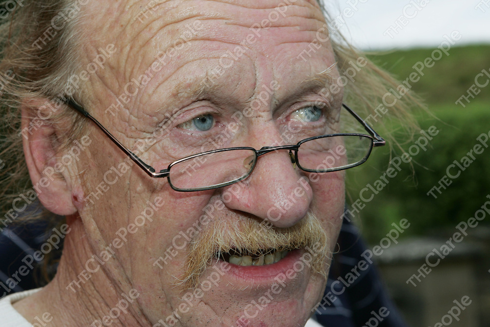 29/08/06<br />An emotional Tom Courtney of The Russian Royal Circus speaks to the gathered reporters following the tragic accident in Scariff, Co. Clare on Monday Night in which a Russian Acrobat fell to his death. <br />Pic: Don Moloney / Press 22
