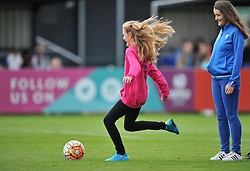 Player from Whitchurch JFC shoots at the goal during half-time at Stoke Gifford Stadium - Mandatory by-line: Paul Knight/JMP - 24/09/2016 - FOOTBALL - Stoke Gifford Stadium - Bristol, England - Bristol City Women v Durham Ladies - FA Women's Super League 2
