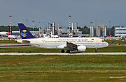 HZ-ASD Saudi Arabian Airlines Airbus A320-214 at Malpensa (MXP / LIMC), Milan, Italy