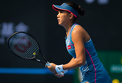 October 5, 2018 - Shuai Zhang of China in action during her quarter-final match at the 2018 China Open WTA Premier Mandatory tennis tournament (Credit Image: © AFP7 via ZUMA Wire)