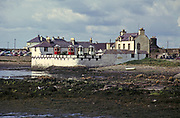 Historic houses right on the beach, Isle of Whithorn, Dumfires and Galloway, Scotland. 1974