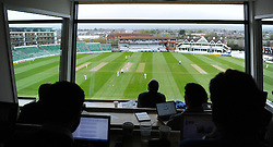 View from the new press box at the Cooper Associates County Ground.  - Mandatory by-line: Alex Davidson/JMP - 01/05/2016 - CRICKET - Cooper Associates County Ground - Taunton, United Kingdom - Somerset v Lancashire - English Specsavers County Championship Division One