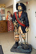 Pirate model at Guernsey Pearls shop and showroom, Guernsey,