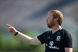 WREXHAM, WALES - Monday, July 22, 2019: Wales North head coach Matty Jones during the Welsh Football Trust Cymru Cup 2019 at Colliers Park. (Pic by Paul Greenwood/Propaganda)
