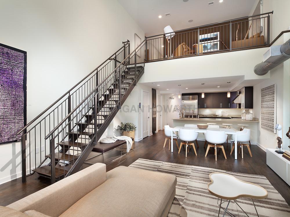1700_Clarendon Arlington, VA The Gaslight 1700_Clarendon Arlington, VA Home Living Room Dining Room Stair stairway
