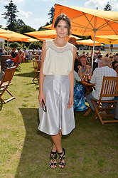 SARAH ANN MACKLIN at the Summer Solstice Party during the Boodles Tennis event hosted by Beulah London and Taylor Morris at Stoke Park, Park Road, Stoke Poges, Buckinghamshire on 21st June 2014.