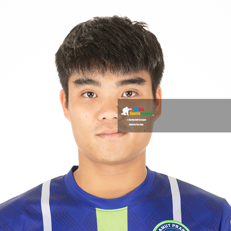 THAILAND - APRIL 09: Peeradol Chamrasamee #8 of Samut Prakan City FC on April 09, 2019.<br /> .<br /> .<br /> .<br /> (Photo by: Naratip Golf Srisupab/SEALs Sports Images/MB Media Solutions)