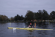 Boston, Massachusetts, USA. Early morning training session, on thursday 19/10/2006 ,  Riverside Crews, on the Charles River, Preparing for the 2006 Head of the Charles,  Photo  Peter Spurrier/Intersport Images...[Mandatory Credit, Peter Spurier/ Intersport Images] Rowing Course; Charles River. Boston. USA