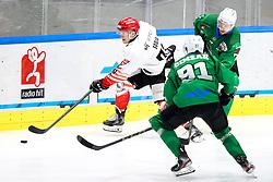 Jaka Sodja of HDD SIJ Acroni Jesenice during ice hockey match between HK SZ Olimpija and HDD SIJ Acroni Jesenice in first game of Final at Slovenian National League, on April 30, 2020 in Hala Tivoli, Ljubljana, Slovenia. Photo by Matic Klansek Velej / Sportida