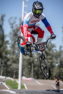 #155 (KLESHCHENKO Evgeny) RUS at round 8 of the 2018 UCI BMX Supercross World Cup in Santiago del Estero, Argentina.