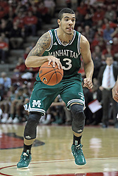 20 November 2013:  Emmy Andujar during an NCAA Non-Conference mens basketball game between theJaspers of Manhattan and the Illinois State Redbirds in Redbird Arena, Normal IL