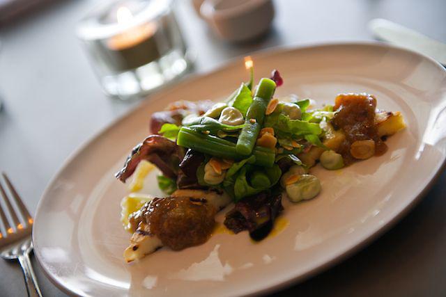vegetarian plate of food
