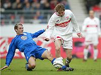 Fotball, 31. januar 2004, Bundesliga, v.l. Thomas Schultz, Aleksandr Hleb Stuttgart<br /> Bundesliga VfB Stuttgart - FC Hansa Rostock