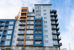 Edinburgh, Scotland, UK. 31January 2020.  Surveyors state that new build housing developments in Scotland are as risky as Grenfell for fire hazards. As well as insufficient fire breaks built into cavity walls, the use of combustible aluminium cladding to the exterior of modern apartment buildings is a great cause for concern for homeowners. Pic;Iain Masterton/Alamy Live News