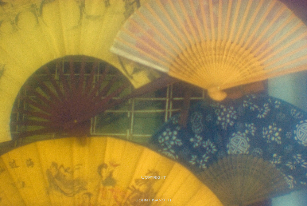 Fans for sale in the old town of Zhujiajiao
