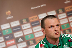Stefan Boeger, head coach of Germany U-17 National team during press conference of Group A of UEFA European Under-17 Championship Slovenia 2012, on May 3, 2012 in Austria Trend Hotel, Ljubljana, Slovenia. (Photo by Vid Ponikvar / Sportida.com)