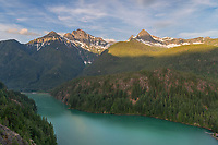 Colonial and Pyramid Peak North Cascades, Ross Lake National Recreation Area, North Cascades Washington