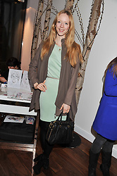 MORWENNA LYTTON COBBOLD at a party to celebrate the launch of the Casio Tokyo watch in association with Flashtrash.com held at itsu, 10a Blandford Road, London W1 on 28th January 2013.